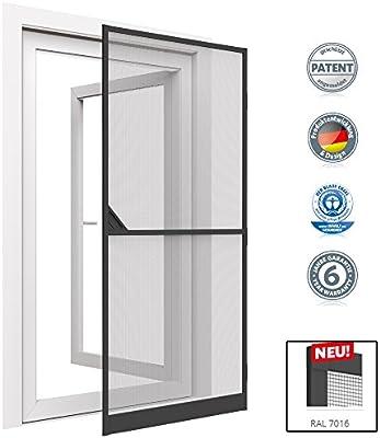 Mosquitera con marco de aluminio para puerta - 100 x 215 cm - gris: Amazon.es: Hogar