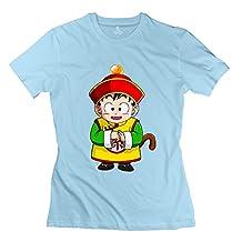 Women's Dragon Ball Kid Gohan Customized Causal SkyBlue T-Shirt By Mjensen