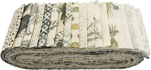 Hoffman Bali Batik Quilt Fabric (Bali Batiks Waterfall Bali Poppy 20 2.5-inch Strips Jelly Roll Hoffman Fabrics BPP-449-Waterfall)