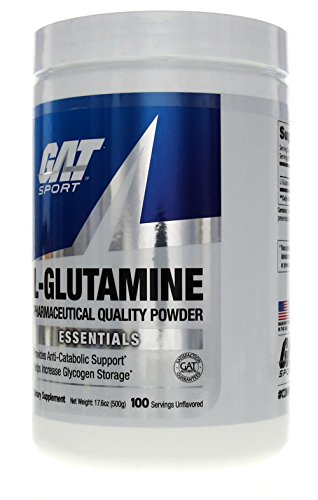 GAT Pure and Potent L Glutamine Supplement for Advanced Athlete Recovery, 500 Gram