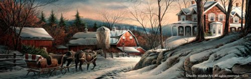 Wild Wings Coming Home Christmas Scene by Terry Redlin Horizons Horizontal Print Open Edition