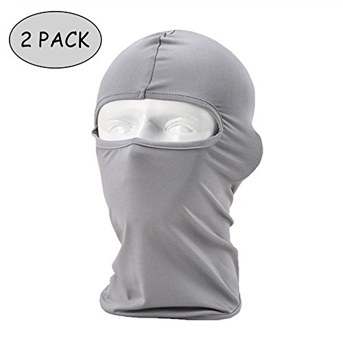Ezyoutdoor Motorcycle Bicycle Cycling Skiing Hiking Fishing Summer Sun UV Winter Wind Protection War Games Hood Hat CS Veil Lycra Balaclava Neck Warmer Full Face Mask (Combo Bicycle Helmet)