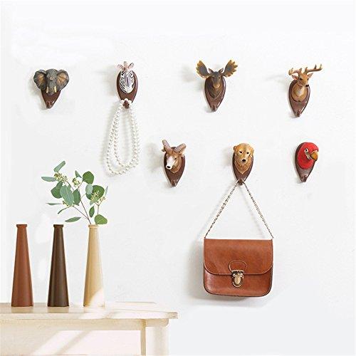 IAMPRETTY Antlers Hooks American Wall Decor Animal Hooks Wall Decor Coat Keys Bags Clothes Hooks Household Decor Retro Hooks Kangsanli (4)