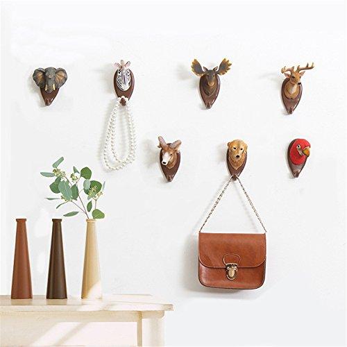 IAMPRETTY Antlers Hooks American Wall Decor Animal Hooks Wall Decor Coat Keys Bags Clothes Hooks Household Decor Retro Hooks Kangsanli (4) by Kangsanli