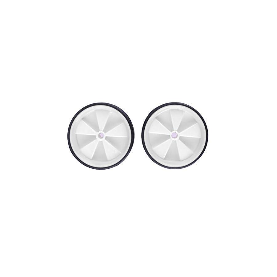 "OULII Traing Wheel Kid Bicycle Fittings Bike Wheel Kit Universal Kids Bike Kit Fits 12"" 20"" Bicycles(White)"