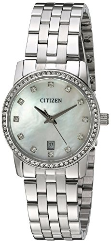 Citizen Women's Quartz Crystal Accent Watch with Date, EU6030-56D (56d Watch)