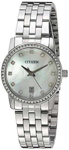 Citizen Women's Quartz Crystal Accent Watch with Date, EU6030-56D