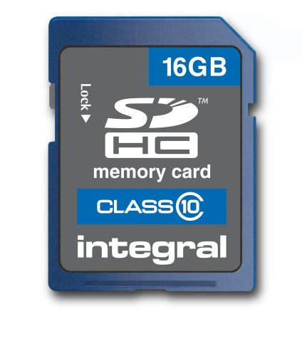 - Integral 16GB SDHC Class 10 Memory Card