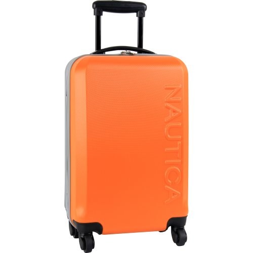 Nautica Ahoy 21 Inch Hardside Spinner, Orange/Silver, One Size