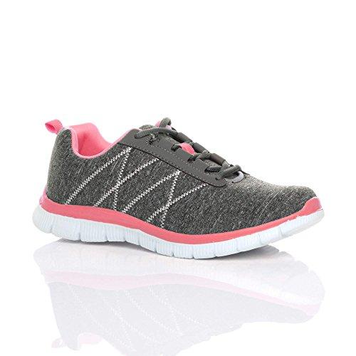 Grey Sneaker Ajvani Pink Sneaker Donna Ajvani wFPxqFY