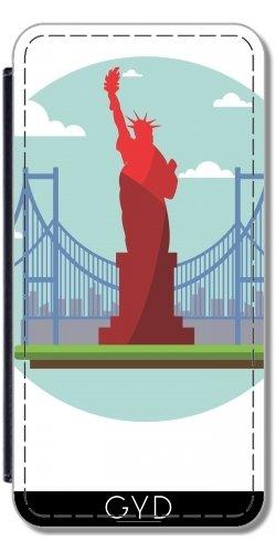 Leder Flip Case Tasche Hülle für Apple Iphone 7 / Iphone 8 - New York Uns, Amerika, by WonderfulDreamPicture