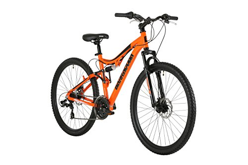 Barracuda Unisex Draco Ds Wheel 18 Inch Full Suspension Frame Mountain Bike, Orange, 27.5