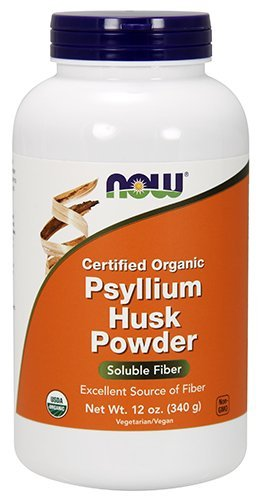 NOW Organic Psyllium Powder, 12-Ounce 12 Ounce Psyllium