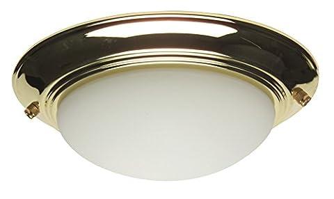 Craftmade LKE53CFL-AW 2 Light Elegance Bowl Fan Light Kit with Cased White Glass, Antique White - Elegance Ceiling Light