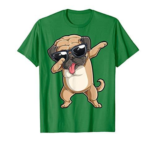 Dabbing Pug T shirt Boys Girls Dab Dance Dog Puppy Lovers