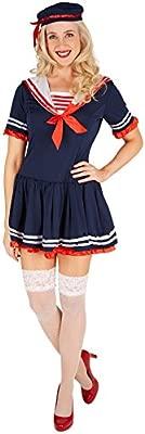 TecTake dressforfun Disfraz de Marinera para Mujer   Vestido ...