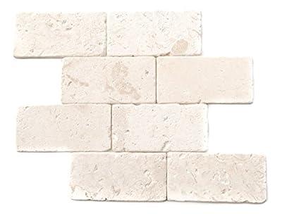 Myra Beige Limestone 3X6 Tumbled Tiles