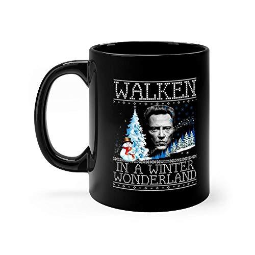 (Walken In A Winter Wonderland Christmas Knit Mug Coffee Mug 11oz Gift Tea Cups 11oz Ceramic Funny Gift Mug)
