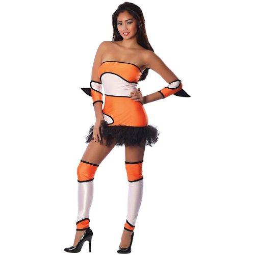 Delicious Colorful Clownfish Costume, Orange/Black/White, Medium