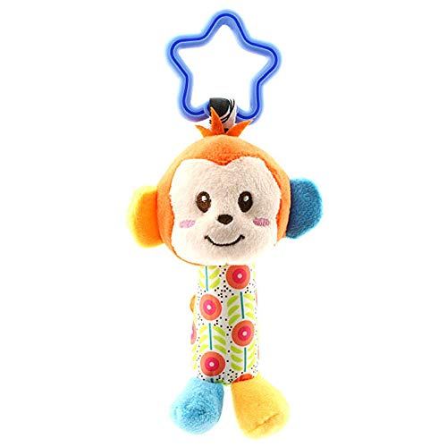 Wimagic 1 x Cochecito de beb/é de felpa colgante mu/ñeca sonajero de mano suave de dibujos animados animal estilo mu/ñeca cochecito colgante juguete interactivo para beb/é felpa Chicken Style 7*18.5cm