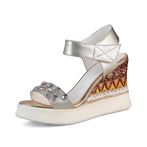 BalaMasa Womens Assorted Colors Structured Studded Sandals Urethane Platforms Sandals Studded ASL05328 B07FPWYT18 Parent 809052