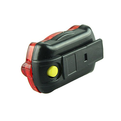 South Weekend Super Bright Cycling Voberry Safety Warning Flashlight 5 LED Waterproof Bike Safety Tail Light (RED)