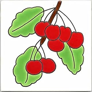 product image for FRUITS-VEGETBLES-TRIVETS-WALL PLAQUES-CHERRIES TILE