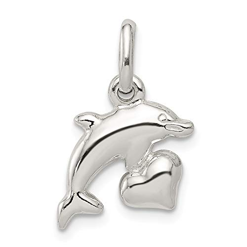 925 Sterling Silver Dolphin Pendant Charm Necklace Sea Life Fine Jewelry Gifts For Women For Her