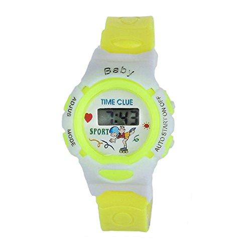 SMTSMT-Students Electronic Digital Wrist Sport Watch - Yellow