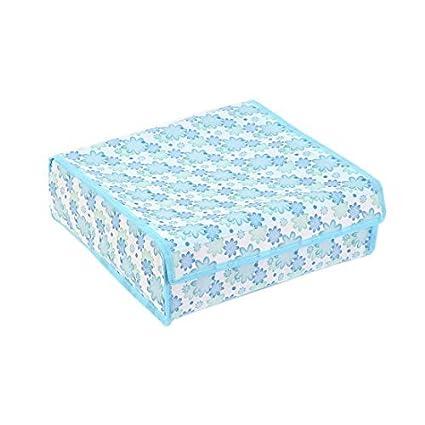 eDealMax del Estampado de Flores del Sujetador de la ropa Interior Calcetines Lazos plegable Caja de