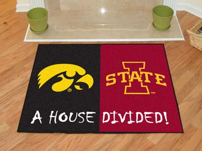 Fan Mats Iowa-Iowa State House Divided Rug, 34