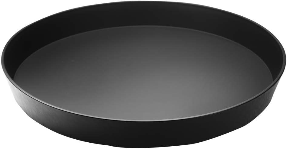 Garnet 9020 Bandeja de plástico redonda – con acabado antideslizante Soft Touch en la parte interior – Altura del borde 4 cm – Diámetro 32 cm – Fabricado en Italia