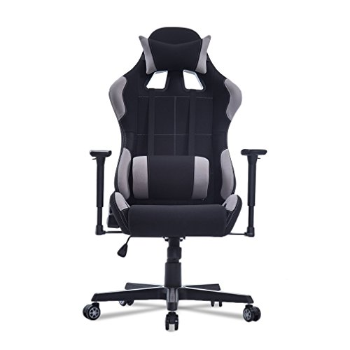 Homgrace Ergonomic Racing Gaming Chair High-back Computer Chair with Headrest and Lumbar Support (Red)