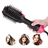 YJF One Step Hair Dryer Brush Hot-Air Brushes Electric Hot Air Comb 2-in-1 Styler & Volumizer
