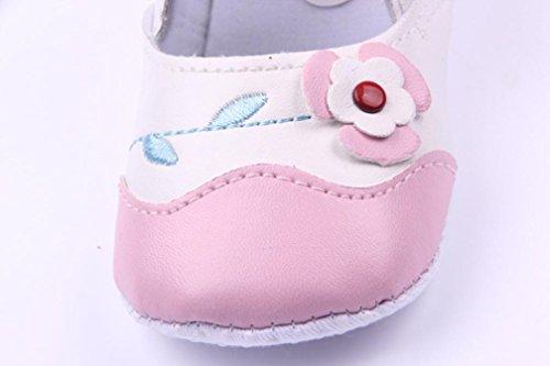 Igemy 1 Paar Neugeboren Säugling Baby Blumen Gedruckt Sneaker Anti-Rutsch Weiche Sole Kleinkind Schuhe Rosa