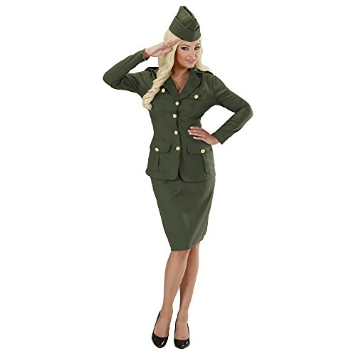 Ladies WW2 Soldier Girl Costume Large Uk 14-16 For Military War Fancy (Ww2 Costumes For Women)