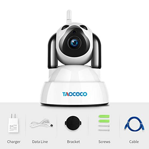 1080p Hd Network Camera Two-way Audio Wireless Network Camera Night Vision Motion Detection Camera Robot Pet Baby Monitor Drip-Dry Security & Protection Video Surveillance