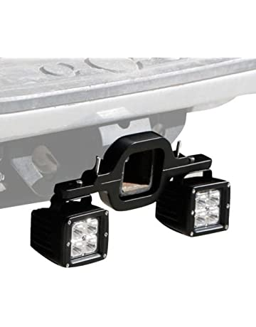 omotor Towing Hitch Mount Brackets for Truck Trailer RV SUV Pick Up Fit Dual LED Work
