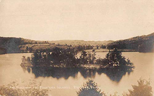 Brandon Vermont The Hortonia and Meserole Islands Real Photo Postcard JC932092