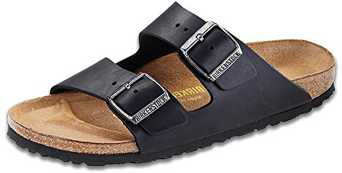 5b9f5ae2a0c4 Birkenstock Arizona Black Oiled Leather Unisex Sandal 40 N (US Women s  9-9.5)