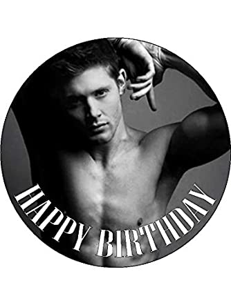 Jensen Ackles 75inch Round Personalised Birthday Cake Topper