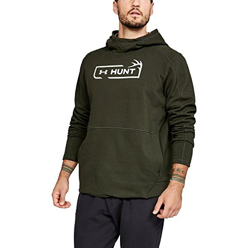 509baaa90db2b Under Armour Men's Rival Fleece Hunt Icon Hoodie, Artillery Green  (357)/Olive Tint, XX-Large