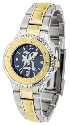 Rice Owls Competitor Watch - SunTime Rice Owls Competitor AnoChrome Ladies Watch with Two-Tone Band