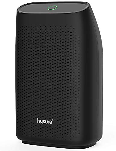 Hysure ysure Dehumidifier,700ml Compact Deshumidificador 1200 Cubic Feet(215 sq ft) Quiet Room Dehumidifier, Portable Dehumidifier Bathroom Dehumidifier for Dorm Room, Baby Room, Home Black