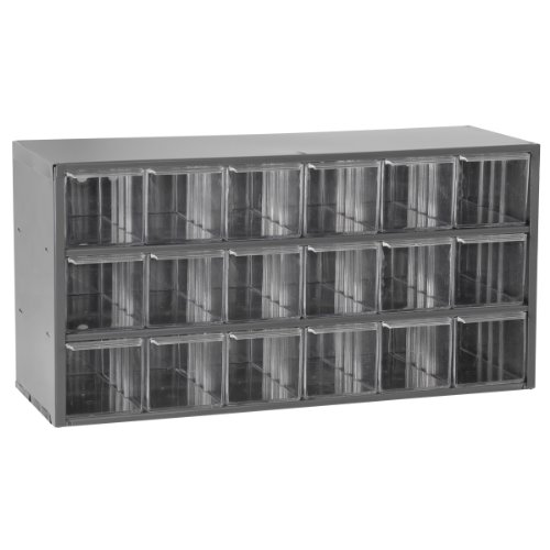 Akro-Mils 17018 18 Drawer Steel Parts Storage Hardware and Craft Cabinet, Grey by Akro-Mils