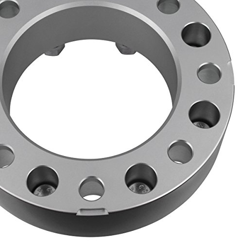 Supreme Suspensions - (2pc) 1994-2009 Dodge Ram 2500 1.5'' Wheel Spacers 8x6.5'' (8x165.1mm) with 9/16''x18 Studs [Silver] by Supreme Suspensions (Image #3)