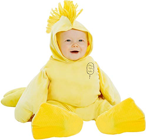 Charlie Brown Lucy Halloween Costumes (Palamon Baby's Peanuts Woodstock Costume, Yellow, 12 Months 18)
