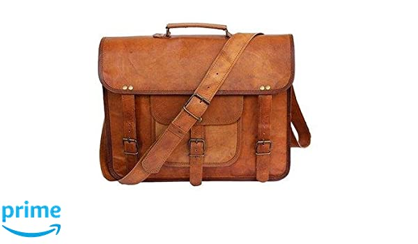 74c0a419d901 Amazon.com  Tuzech Large Bold And Stylish Hunter Leather Bag Handcrafted  Messenger Office Regular Bag Fits Laptop Upto 15.6 Inches  The Global Mart
