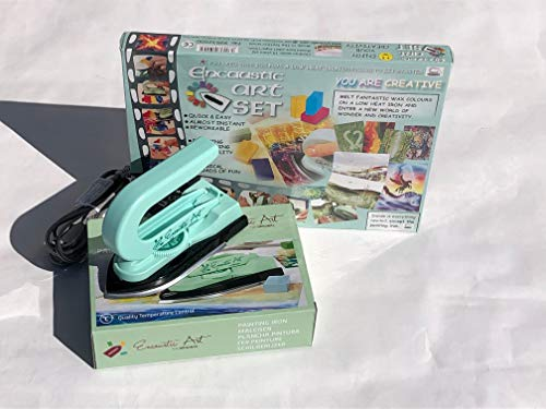 Encaustic Art Starter Kit with Iron and 32 Page Guide