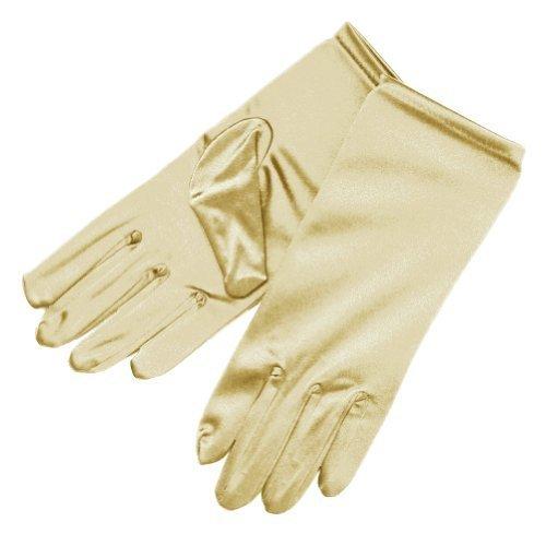 ZaZa Bridal Shiny Stretch Satin Dress Gloves Wrist Length - Satin Gloves 10
